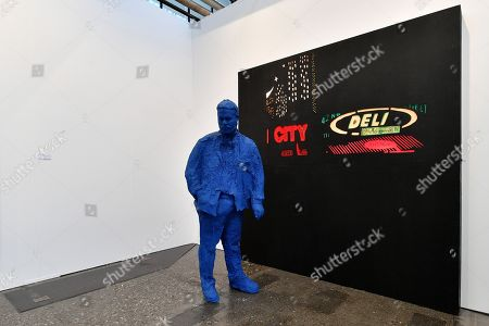 A view of the artwork '42nd Street Deli' by American artist George Segal on display in the international art fair ART DUESSELDORF at Areal Boehler, in Duesseldorf, Germany, 16 November 2017. Around 80 established and young galleries from 21 countries will present modern and contemporary art from between 1945 and 2017 in the halls of the former factory complex Areal Boehler. The fair's first edition will be held from 17 to 19 November 2017.