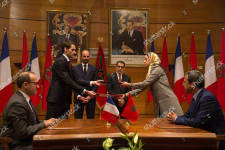 Saad-Eddine El Othmani Edouard Philippe. France's Prime Minister Edouard Philippe and his Moroccan counterpart Saad-Eddine El Othmani attend as their ministers exchange signed agreements, in Rabat, Morocco, . Philippe is in Morocco to try to reinvigorate trade with the North African kingdom, as the former French protectorate increasingly positions itself as an economic pillar of Africa