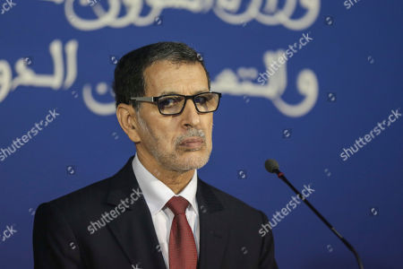 Morocco's Prime Minister Saad-Eddine El Othmani holds a press conference with his French counterpart Edouard Philippe in Rabat, Morocco, . Philippe is in Morocco to try to reinvigorate trade with the North African kingdom, as the former French protectorate increasingly positions itself as an economic pillar of Africa