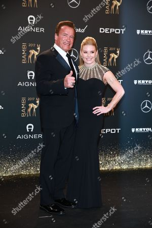 Arnold Schwarzenegger and partner Heather Milligan