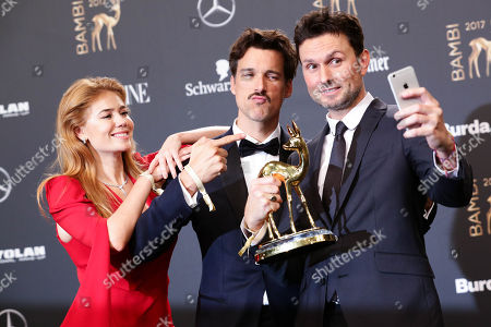 Palina Rojinski, Florian David Fitz and Simon Verhoeven