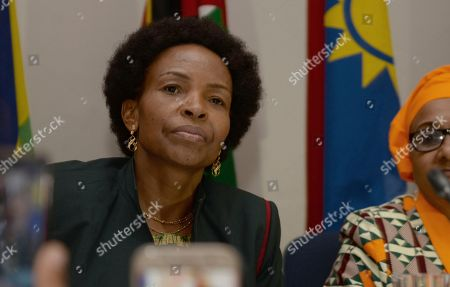 Stock Picture of Southern African Development Community (SADC) Council chairperson and South African minister Maite Nkoana-Mashabane attends a meeting in Gaborone in Botswana . The meeting of theSADC Organ on Politics, Defence and Security Co-operation is being held to discuss the political developments in Zimbabwe