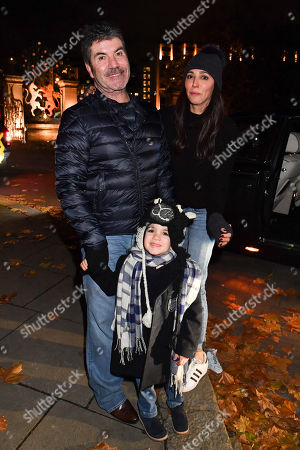 Simon Cowell, Eric Cowell and Laura Silverman