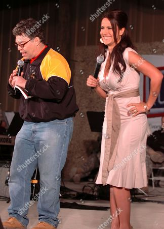 In this image provided by the U.S. Army, then-comedian Al Franken and sports commentator Leeann Tweeden perform a comic skit for service members during the USO Sergeant Major of the Army's 2006 Hope and Freedom Tour in Camp Arifjan, Kuwait, on . Sen. Al Franken, D-Minn., apologized Nov. 16, 2017, after Tweeden accused him of forcibly kissing her during the 2006 USO tour. Colleagues, including fellow Democrats, urged a Senate ethics investigation. Tweeden also accused Franken of posing for a photo with his hands on her breasts as she slept, while both were performing for military personnel two years before the one-time comedian was elected to the Senate