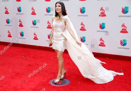 Stock Photo of Camila Luna arrives at the 18th annual Latin Grammy Awards at the MGM Grand Garden Arena, in Las Vegas