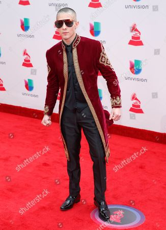 Stock Picture of Jesse Medeles arrives at the 18th annual Latin Grammy Awards at the MGM Grand Garden Arena, in Las Vegas