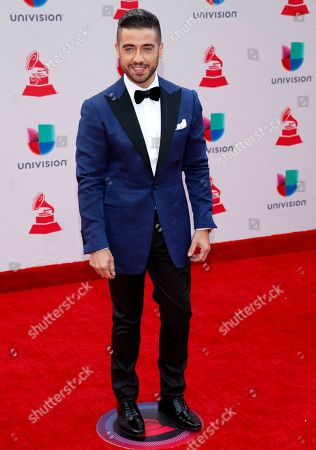 Borja Voces arrives at the 18th annual Latin Grammy Awards at the MGM Grand Garden Arena, in Las Vegas