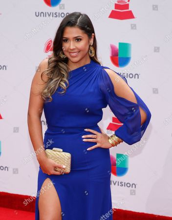 Ydelays arrives at the 18th annual Latin Grammy Awards at the MGM Grand Garden Arena, in Las Vegas