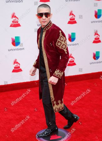 Stock Image of Jesse Medeles arrives at the 18th annual Latin Grammy Awards at the MGM Grand Garden Arena, in Las Vegas