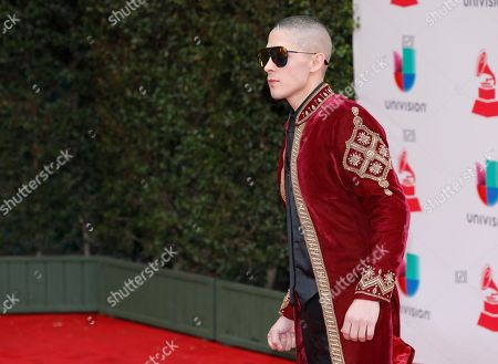 Jesse Medeles arrives at the 18th annual Latin Grammy Awards at the MGM Grand Garden Arena, in Las Vegas