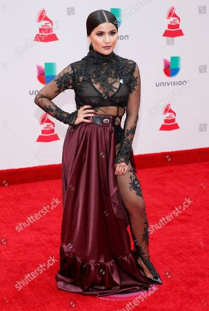 Martina La Peligrosa arrives at the 18th annual Latin Grammy Awards at the MGM Grand Garden Arena, in Las Vegas