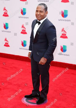 Tony Dandrades arrives at the 18th annual Latin Grammy Awards at the MGM Grand Garden Arena, in Las Vegas