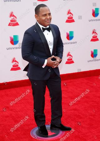 Stock Picture of Tony Dandrades arrives at the 18th annual Latin Grammy Awards at the MGM Grand Garden Arena, in Las Vegas