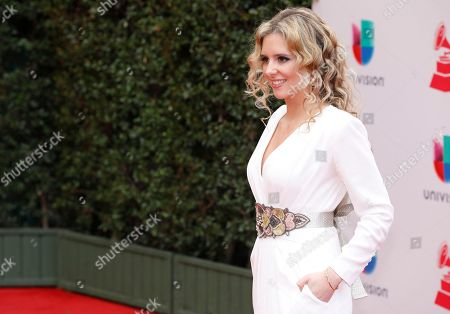 Stock Image of Mabel Millan arrives at the 18th annual Latin Grammy Awards at the MGM Grand Garden Arena, in Las Vegas