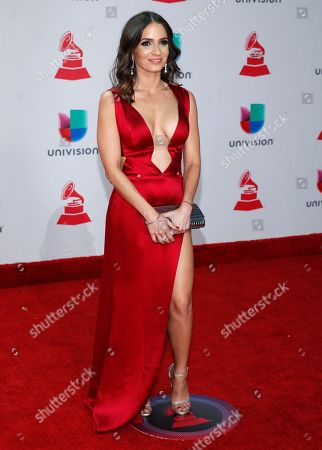 Diana Fuentes arrives at the 18th annual Latin Grammy Awards at the MGM Grand Garden Arena, in Las Vegas