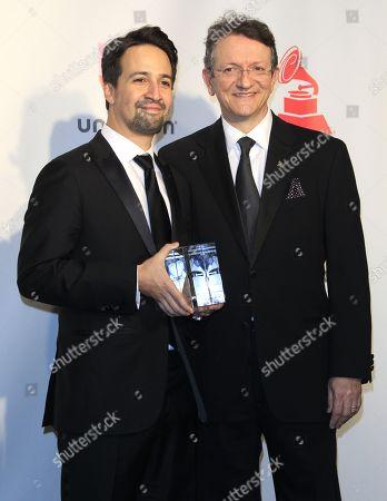 Gabriel Abaroa and Lin-Manuel Miranda