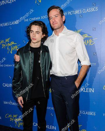 "Editorial image of NY Special Screening of ""Call Me By Your Name"", New York, USA - 16 Nov 2017"