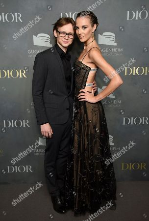 Daniil Simkin, Julie Granger. Russian ballet dancer Daniil Simkin and ballerina Julie Granger attend the 2017 Guggenheim International Gala, hosted by Dior, at the Guggenheim Museum, in New York