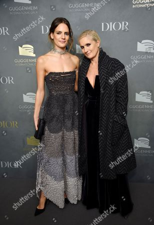 Rachele Regini, Maria Grazia Chiuri. Italian fashion designer Maria Grazia Chiuri, right, and daughter Rachele Regini attend the 2017 Guggenheim International Gala, hosted by Dior, at the Guggenheim Museum, in New York