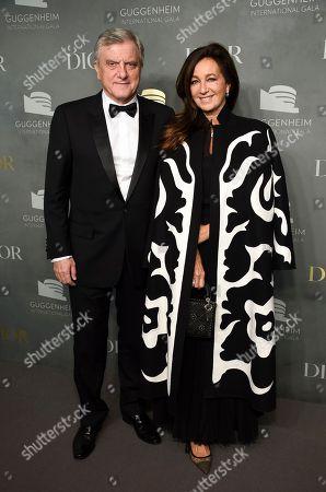 Sidney Toledano, Katia Toledano. Christian Dior Couture CEO Sidney Toledano and Katia Toledano attend the 2017 Guggenheim International Gala, hosted by Dior, at the Guggenheim Museum, in New York