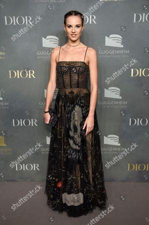 Stock Photo of Ballerina Julie Granger attends the 2017 Guggenheim International Gala, hosted by Dior, at the Guggenheim Museum, in New York