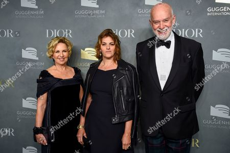 Wendy Fisher, Tracey Emin, Richard Armstrong. Wendy Fisher, left, artist Tracey Emin and Richard Armstrong attend the 2017 Guggenheim International Gala, hosted by Dior, at the Guggenheim Museum, in New York