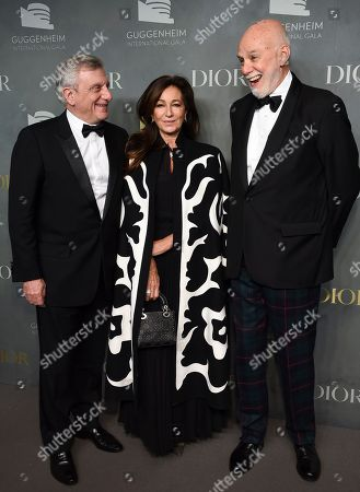 Stock Image of Sidney Toledano, Katia Toledano, Richard Armstrong. Christian Dior Couture CEO Sidney Toledano, left, Katia Toledano and Solomon R. Guggenheim Museum director Richard Armstrong attend the 2017 Guggenheim International Gala, hosted by Dior, at the Guggenheim Museum, in New York