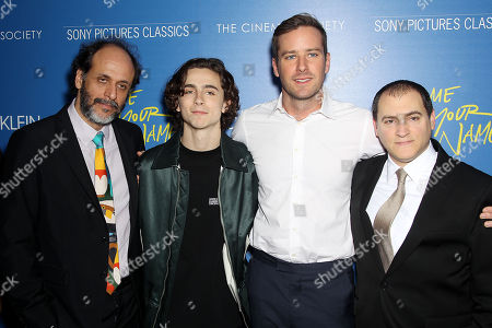 """Editorial picture of Calvin Klein and The Cinema Society host a screening of Sony Pictures Classics' """"Call Me By Your Name"""", New York, USA - 16 Nov 2017"""