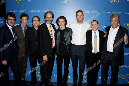 """Editorial photo of Calvin Klein and The Cinema Society host a screening of Sony Pictures Classics' """"Call Me By Your Name"""", New York, USA - 16 Nov 2017"""