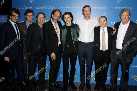 """Editorial image of Calvin Klein and The Cinema Society host a screening of Sony Pictures Classics' """"Call Me By Your Name"""", New York, USA - 16 Nov 2017"""