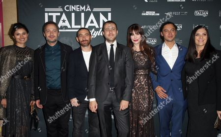 Stock Photo of Claudio Santamaria, Antonio Manetti, Andrea De Sica, Lucila Sola, Jonas Carpignano, Gisela Marengo