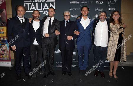 Francesca Barra, Antonio Manetti, Andrea De Sica, Consul General of Italy in Los Angeles Antonio Verde, Jonas Carpignano, Marco Manetti, Raffaella Lebboroni