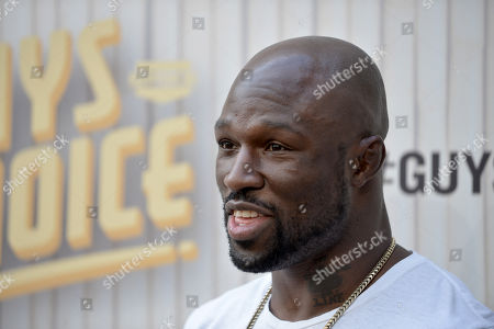 Muhammed Lawal arrives at Spike TV's Guys Choice Awards at Sony Pictures Studios, in Culver City, Calif