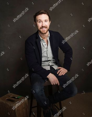 Sam Huntington poses for a portrait at Quaker Good Energy Lodge with GenArt and the Collective, during the Sundance Film Festival, on in Park City, Utah