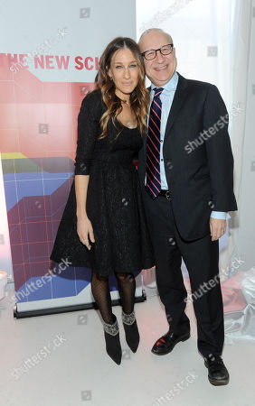 Sarah Jessica Parker and her brother Pippin Parker, Director, The New School for Drama, attend the opening of The New School's University Center, in New York's Greenwich Village