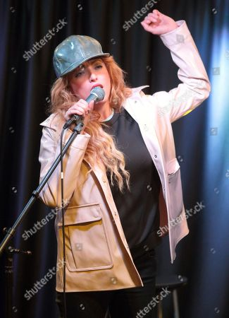 Katie White of the band The Ting Tings visits the Mix 106 Performance Theater, in Philadelphia