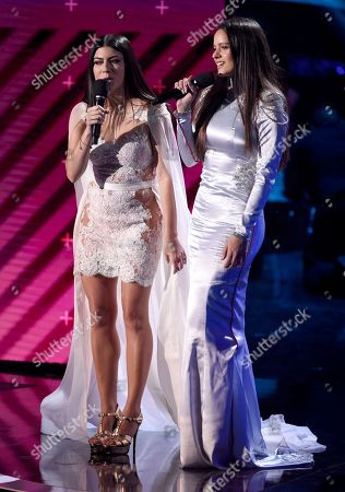 Camila Luna, Rosalia. Camila Luna, left, and Rosalia introduce a performance by Mon Laferte at the 18th annual Latin Grammy Awards at the MGM Grand Garden Arena, in Las Vegas