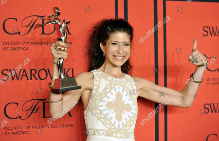 """Swarovski Accessories Designer of the Year"""" honoree Pamela Love poses in the press room at the 2013 CFDA Fashion Awards at Alice Tully Hall on in New York"""