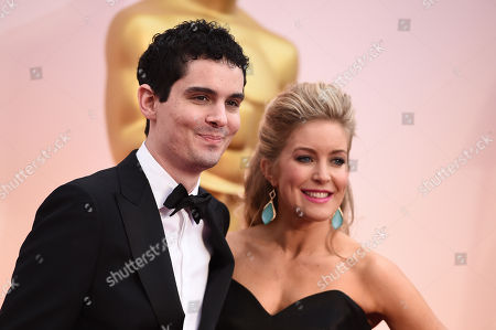 Stock Image of Damien Chazelle, left, and Jasmine McGlade Chazelle arrive at the Oscars, at the Dolby Theatre in Los Angeles