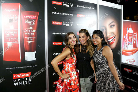 Kika Rocha, Myrka Dellanos and Rosy Cordero attend and Colgate Optic White participates as an official sponsor of the Latin GRAMMY Acoustic Sessions in L.A. featuring performances by Julieta Venegas and Natalia Lafourcade on Wed., in Los Angeles