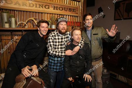 Exclusive - Patrick Schwarzenegger, Nick Swardson, David Spade and Luke Wilson seen at Netflix Premiere of 'The Ridiculous 6' at Universal City Walk AMC, in Universal City, CA