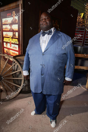 Lavell Crawford seen at Netflix Premiere of 'The Ridiculous 6' at Universal City Walk AMC, in Universal City, CA