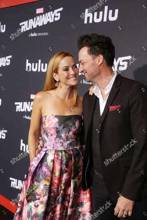 Stock Picture of Annie Wersching and Stephen Full arrive