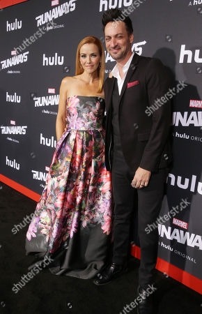 Stock Photo of Annie Wersching and Stephen Full arrive