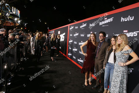 Jill Stonerock, Josh Schwartz, Executive Producer, Rachel Bilson and Stephanie Savage, Executive Producer, arrive