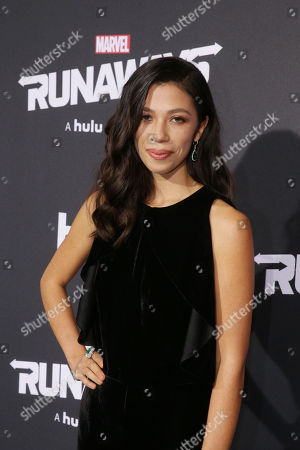 Editorial photo of Hulu Premiere for Marvel's Runaways at Regency Bruin Theatre, Los Angeles, USA - 16 Nov 2017