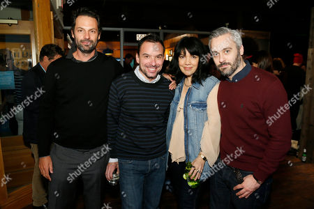 "From left to right, ""Top of the Lake"" producer Emile Sherman, Sundance Channel Senior Vice President of Scripted Programming Christian Vesper, Executive Vice President & General Manager of Sundance Channel Sarah Barnett, and ""Top of the Lake"" producer Iain Canning pose together at Sundance Channel's Annual Festival Celebration during the 2013 Sundance Film Festival on in Park City, Utah"