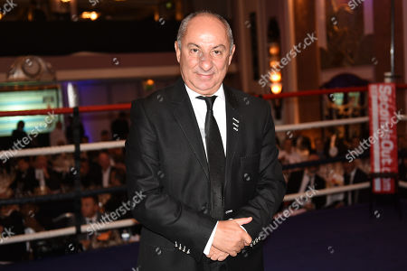 Stock Photo of Ex-Tottenham Hotspur footballer Ossie Ardiles during a Boxing Show at the Sheraton Grand Park Lane Hotel on 16th November 2017