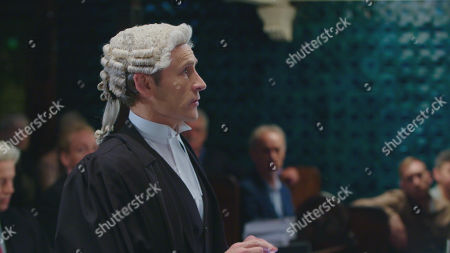 Stock Image of Cal MacAninch as Prosecuting Barrister Jeremy Parsons.