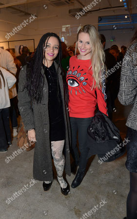 Tahita Bulmer, Ali Flowers attend the Centrefold Magazine and Nokia Private view in London on Thursday, March. 20th, 2014